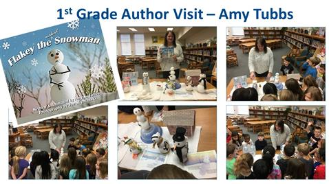 1st Grade Author Visit