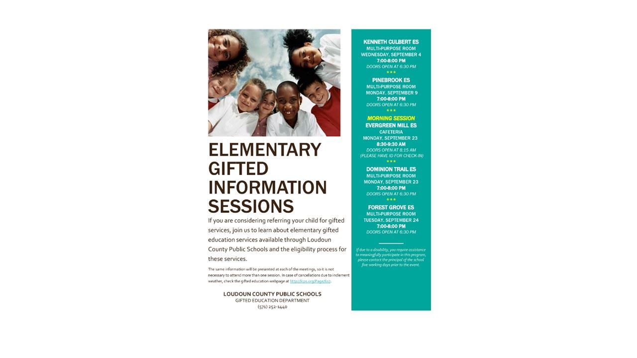 Gifted Information Presentations