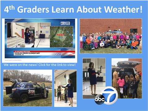 Meteorologist Visits 4th Grade