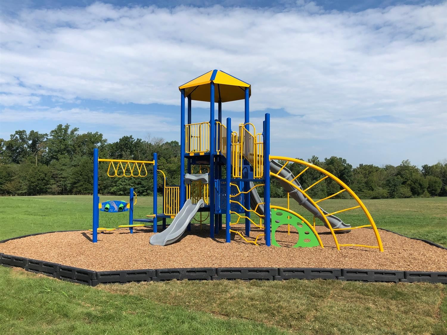Our new playground is done! So exciting!