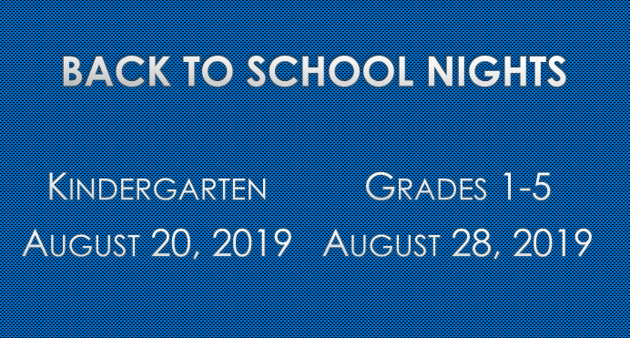 Back to School Nights