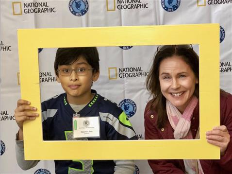 Sam headed to the State GeoBee!
