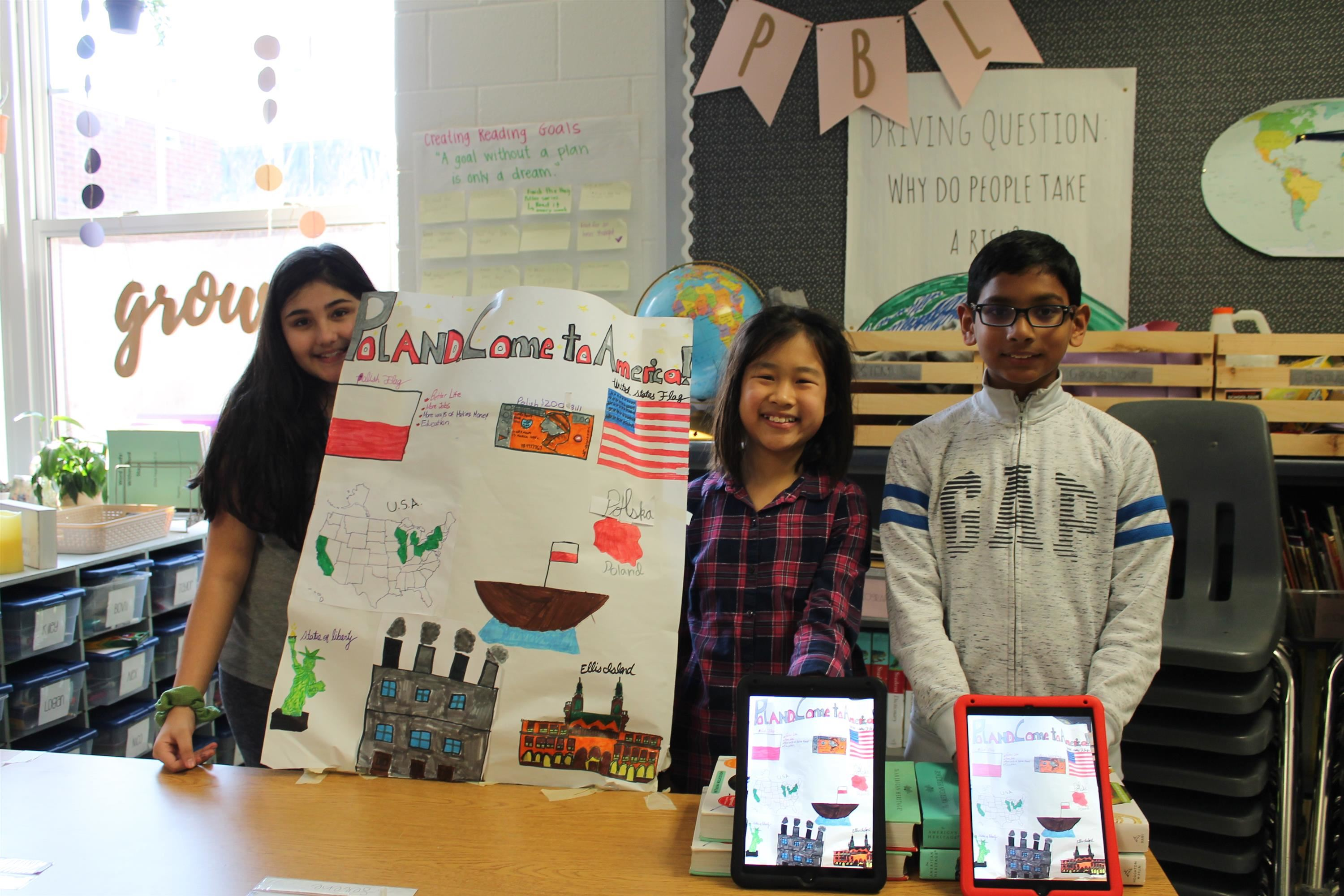 5th Grade Immigration PBL