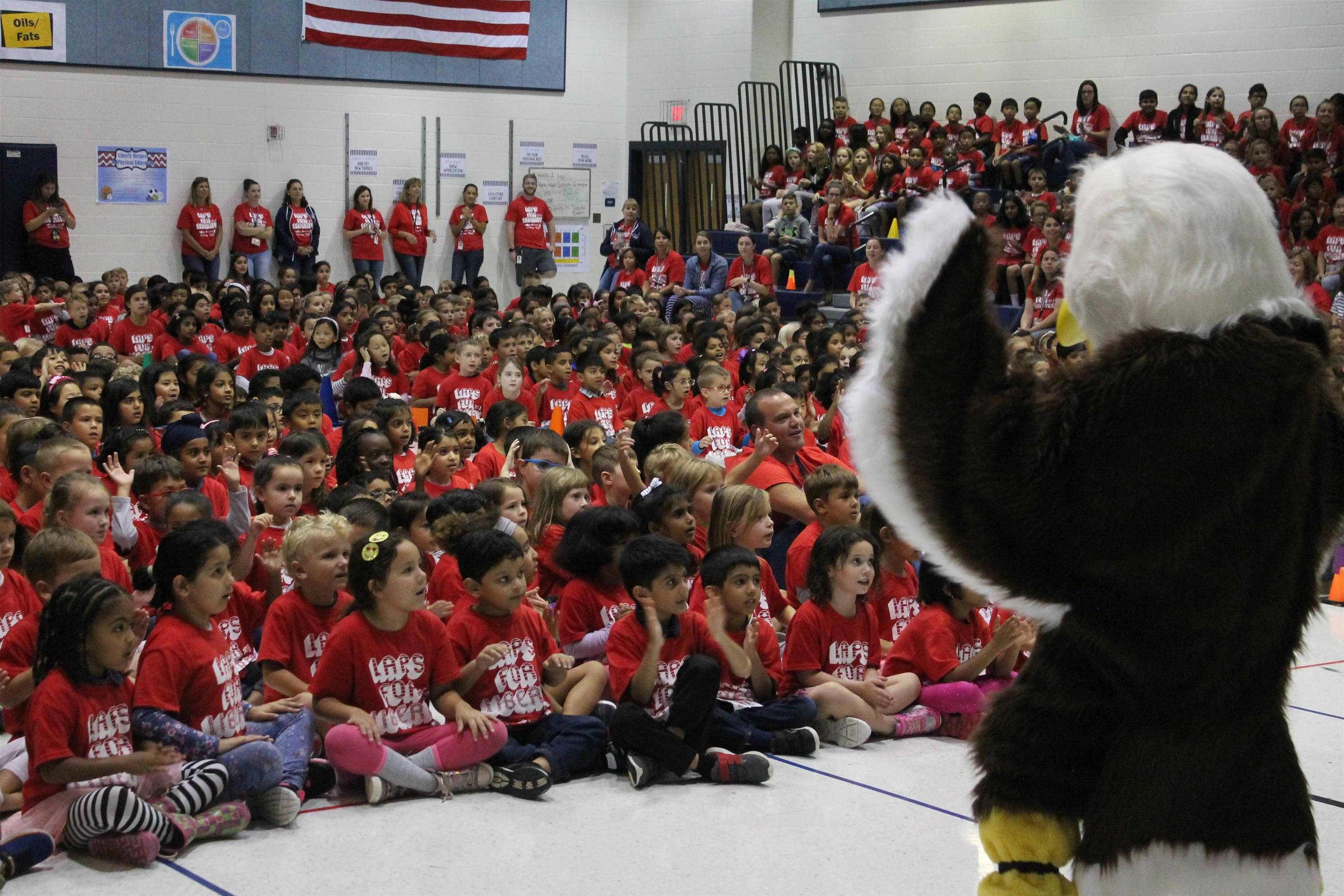 Laps for Liberty Kickoff Assembly was a success!