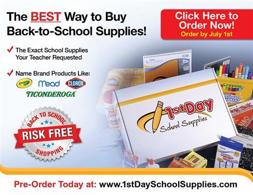 1st Day School Supplies Flyer