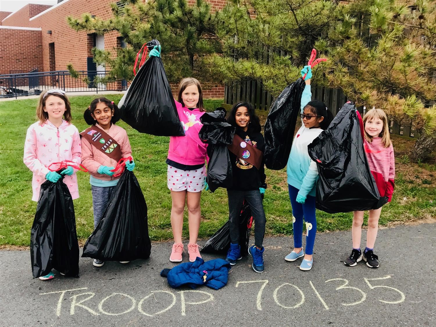 Thanks to Brownie Troop 70135 for cleaning up our grounds! You have made a big difference!