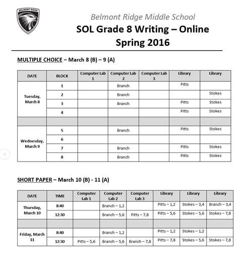 virginia sol online writing The results for english writing and history/social science were the same as the previous school year  virginia department of education releases sol test results by web  virginia's online .