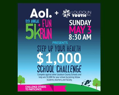 Schools Can Earn $1,000 at Loudoun Youth 5K