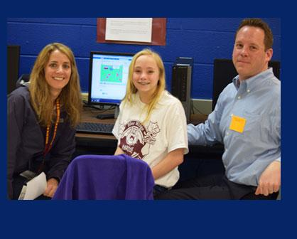 CAMS Inaugural Code Walk at Blue Ridge Middle School