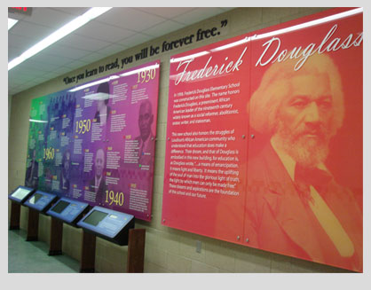 The Memorial Wall at Frederick Douglass Elementary School has received a Community Blue Ribbon Awar