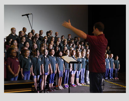 The Festival Singers, 160 students from the Little River and Horizon elementary schools' fourth and
