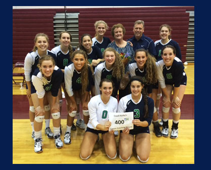 Woodgrove High School volleyball coach Carmel Keilty recently passed a milestone only one other Vir