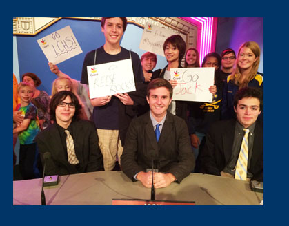 "The Loudoun County High School Academic Team competed on the TV show ""It's Academic"" on Saturday, S"