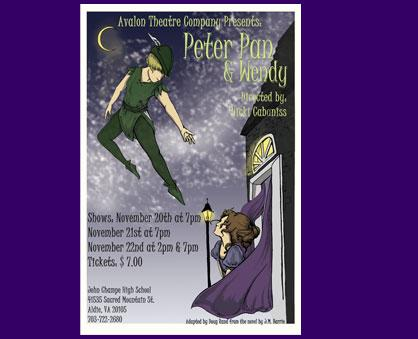 "John Champe High School will present ""Peter Pan and Wendy"" at 7 p.m. on Thursday, November 20th, Fr"