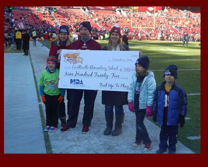 Lovettsville Elementary had a lot to cheer about on December 7th before the Redskins took on the Ra