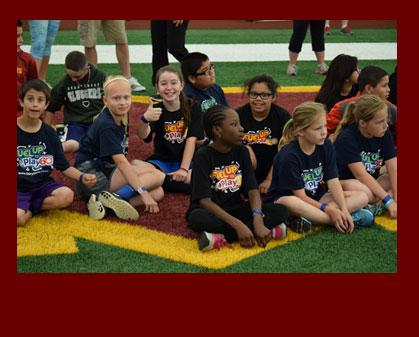 Elementary Students Work Out with Redskins Rookies