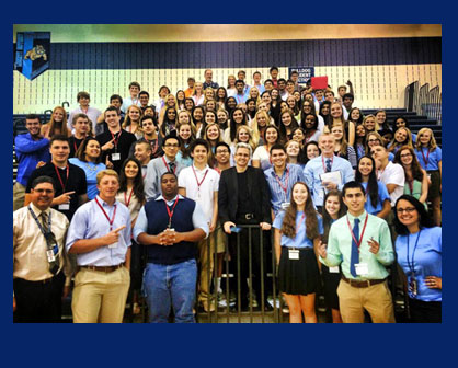 Stone Bridge High School hosted its fifth annual student leadership retreat August 18th.