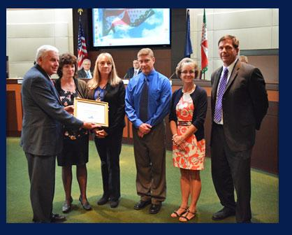 The Virginia Association of Counties (VACo) recently honored the Loudoun County Evening Reporting C