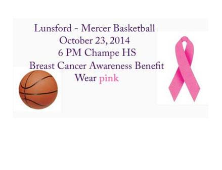 The annual charity basketball game between Mercer and Lunsford middle schools will be held at 6 p.m