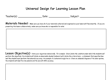 Assistive technology vste09udlplanning - Design and technology lesson plans ...
