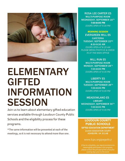 Gifted Information Meetings