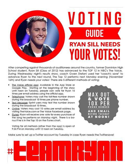 RYAN VOTING FLYER