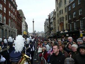 Parading to Trafalgar Square