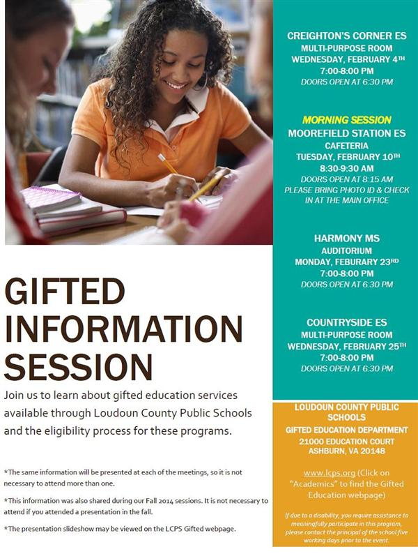 Gifted Information Night Spring 2015
