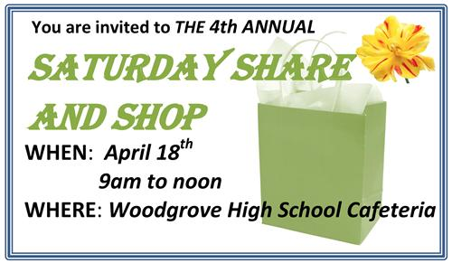 Saturday Shop and Share