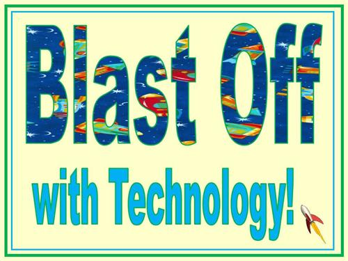 This year's theme is Blast Off with Technology