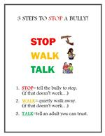 3 Steps to Stop a Bully!  Stop Walk Talk