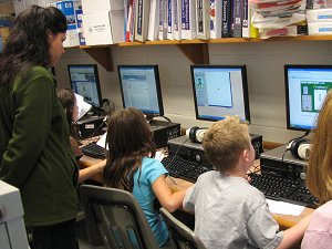 Student s in the computer lab